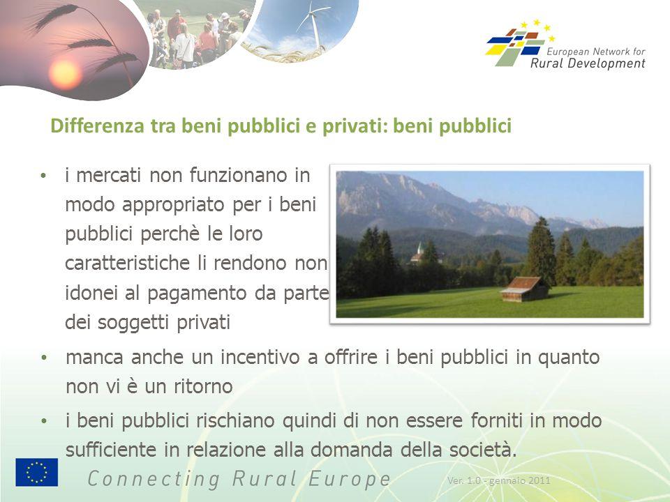 Differenza tra beni pubblici e privati: beni pubblici manca anche un incentivo a offrire i beni pubblici in quanto non vi è un ritorno i beni pubblici