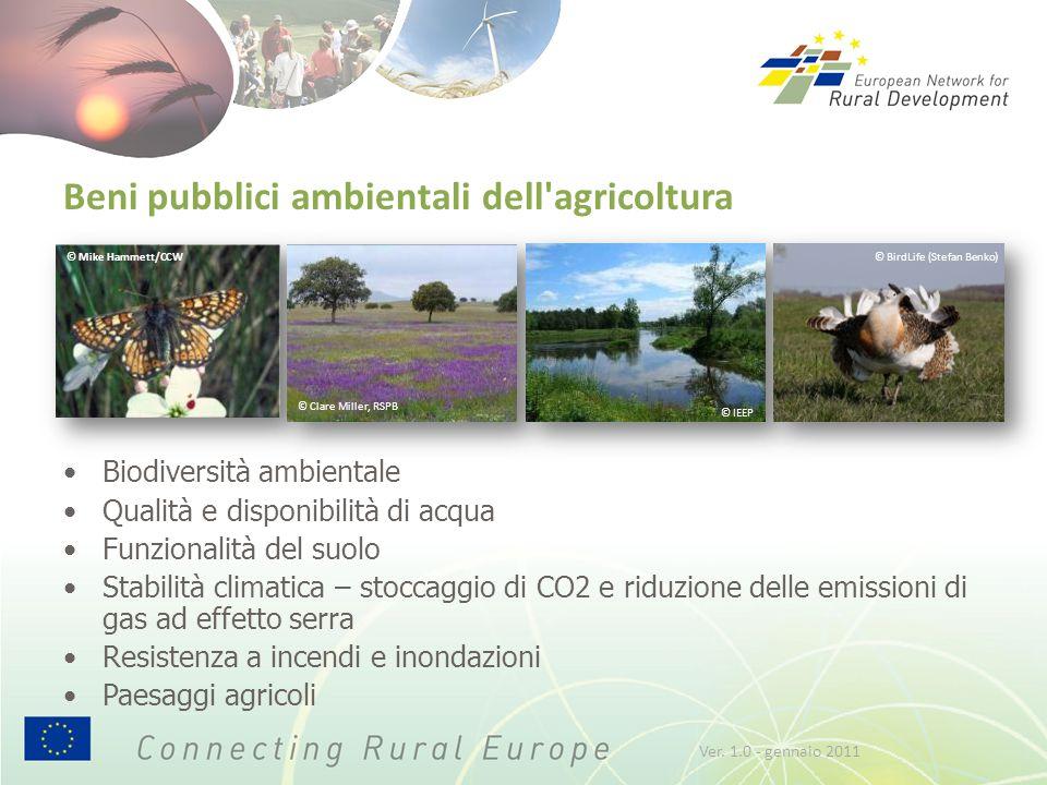 © Mike Hammett/CCW Beni pubblici ambientali dell'agricoltura Biodiversità ambientale Qualità e disponibilità di acqua Funzionalità del suolo Stabilità