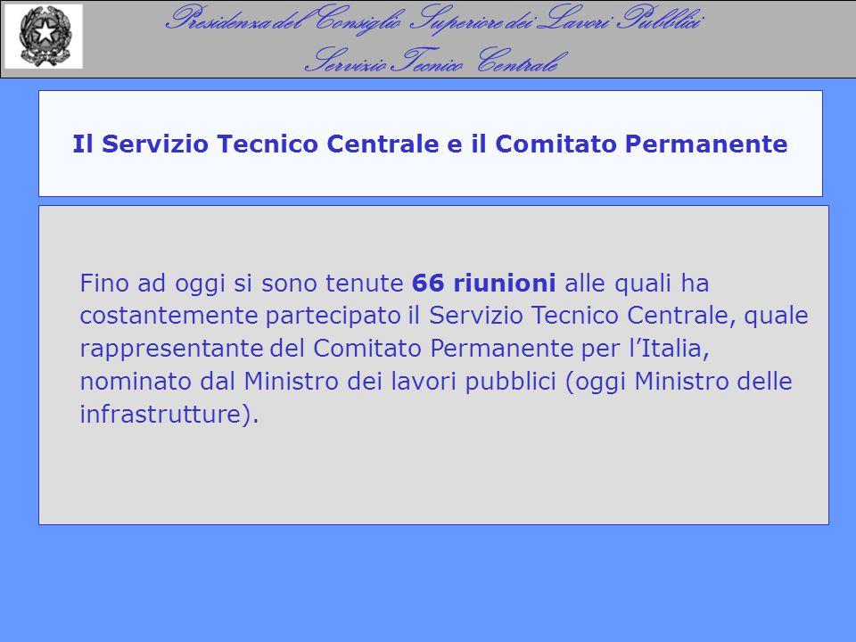 Il Servizio Tecnico Centrale e il Comitato Permanente Presidenza del Consiglio Superiore dei Lavori Pubblici Servizio Tecnico Centrale Fino ad oggi si