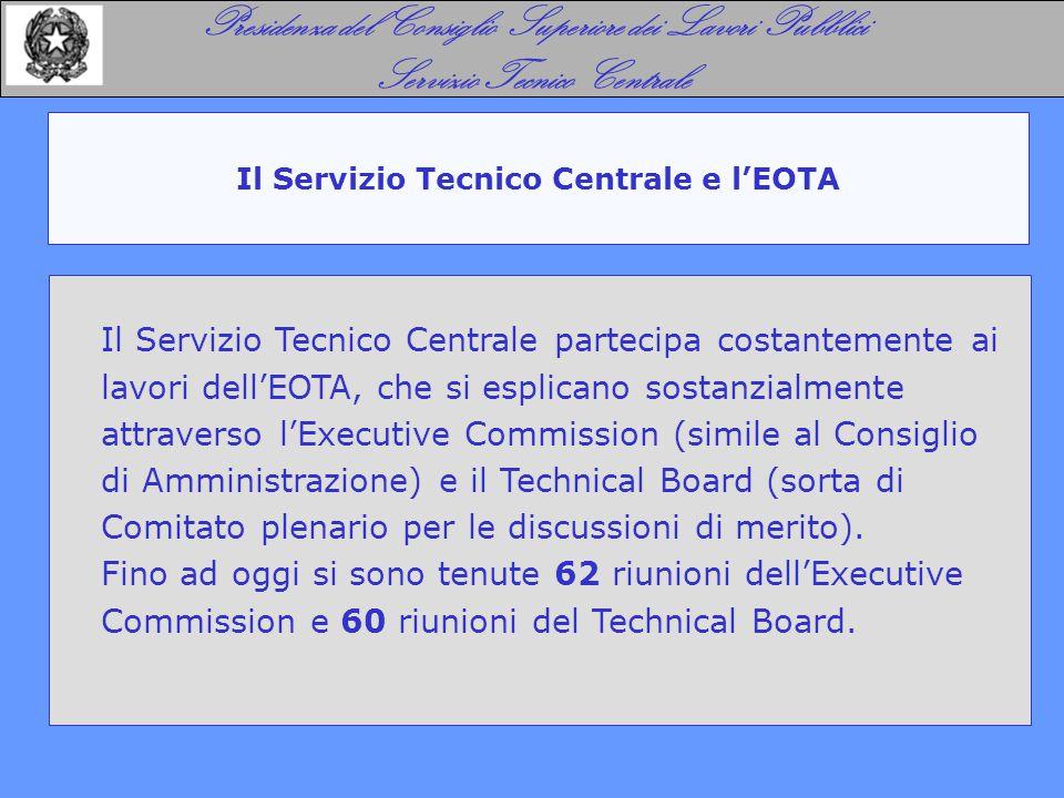 Il Servizio Tecnico Centrale e l'EOTA Presidenza del Consiglio Superiore dei Lavori Pubblici Servizio Tecnico Centrale Il Servizio Tecnico Centrale pa