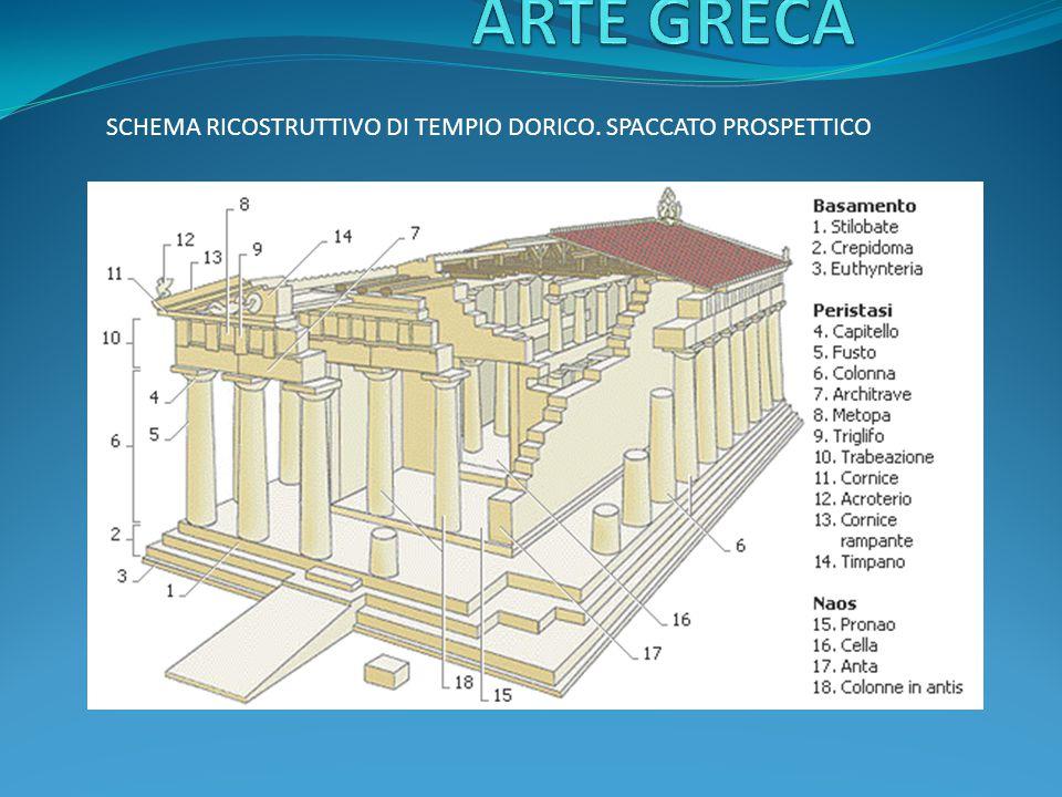 L'ORDINE DORICO è caratterizzato da un'armonia intrinseca che gli deriva in larga misura dalla dimensione dei suoi elementi e dal rapporto esistente fra le diverse parti architettoniche.