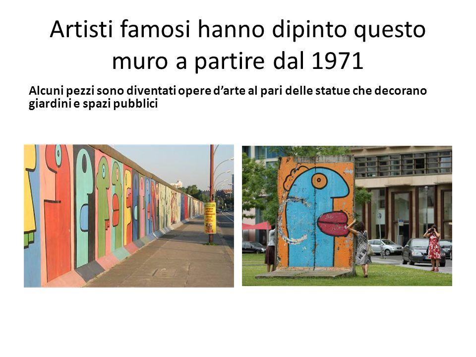 Artisti famosi hanno dipinto questo muro a partire dal 1971 Alcuni pezzi sono diventati opere d'arte al pari delle statue che decorano giardini e spaz