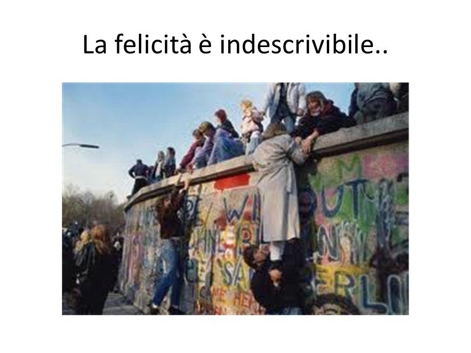 La felicità è indescrivibile..