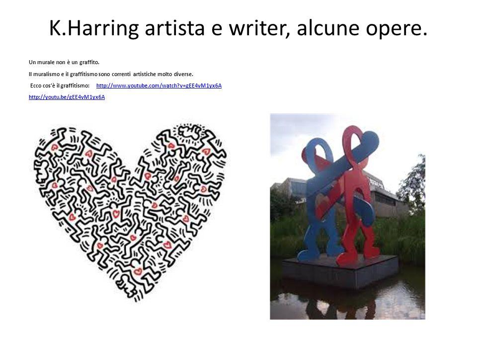 K.Harring artista e writer, alcune opere. Un murale non è un graffito. Il muralismo e il graffitismo sono correnti artistiche molto diverse. Ecco cos'
