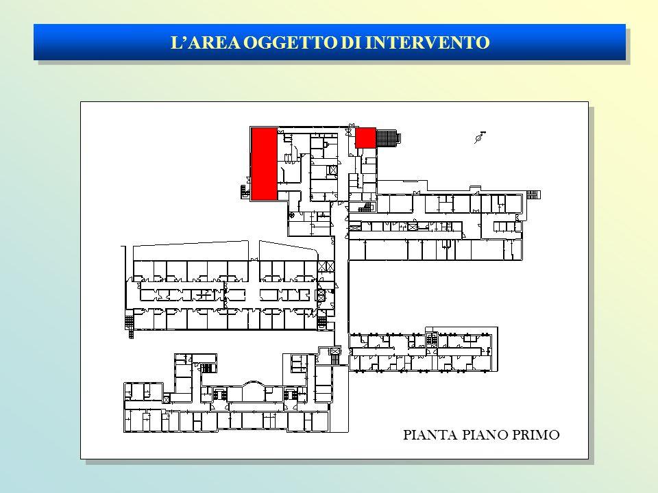 L'AREA OGGETTO DI INTERVENTO PIANTA PIANO PRIMO