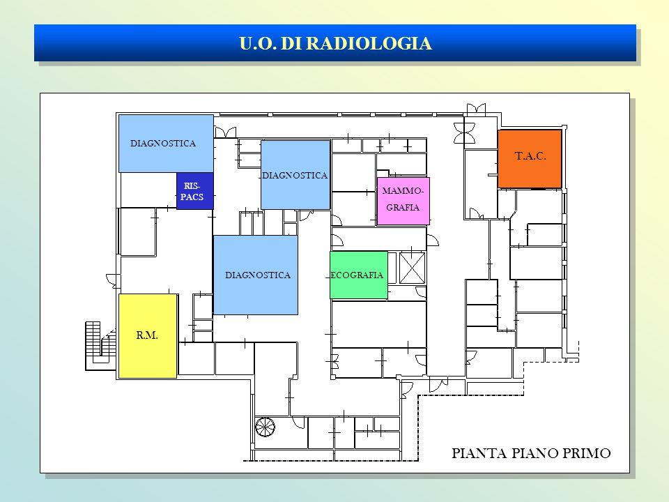 U.O. DI RADIOLOGIA PIANTA PIANO PRIMO R.M. DIAGNOSTICA T.A.C. ECOGRAFIA MAMMO- GRAFIA RIS- PACS