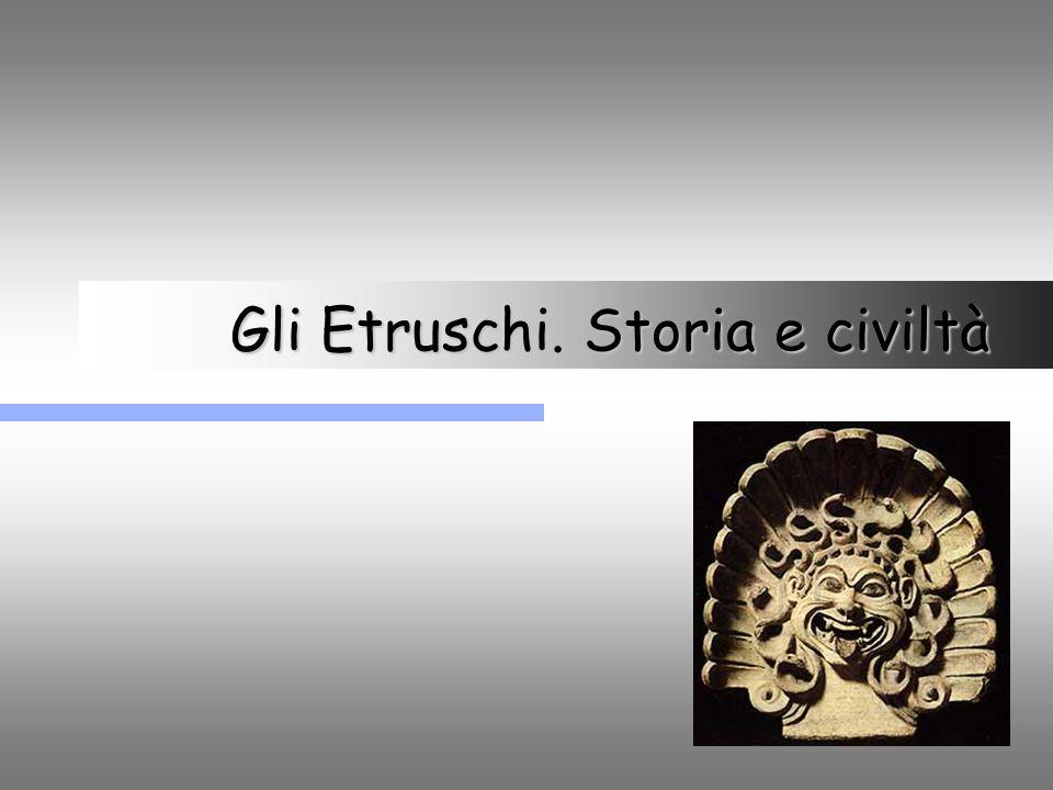 22 Potenza e civiltà etrusca Le città degli Etruschi.