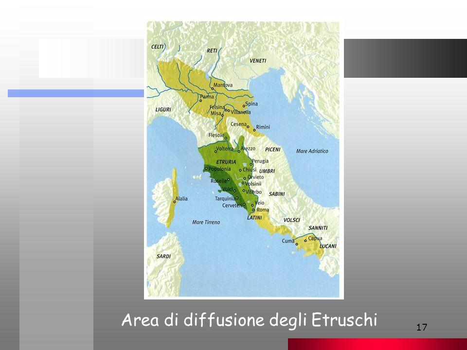17 Area di diffusione degli Etruschi