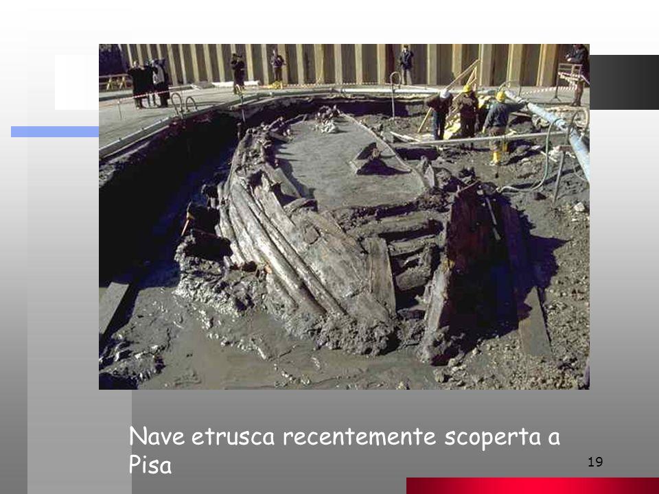 19 Nave etrusca recentemente scoperta a Pisa