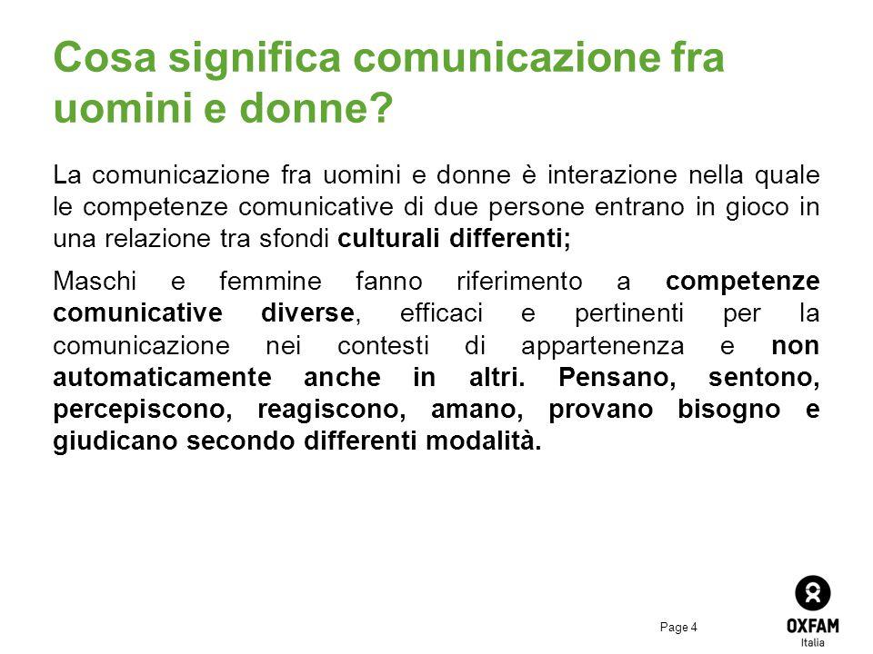Page 4 Cosa significa comunicazione fra uomini e donne.