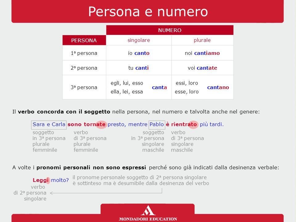 I verbi impersonali I verbi impersonali non hanno un soggetto espresso che compie o subisce l'azione.