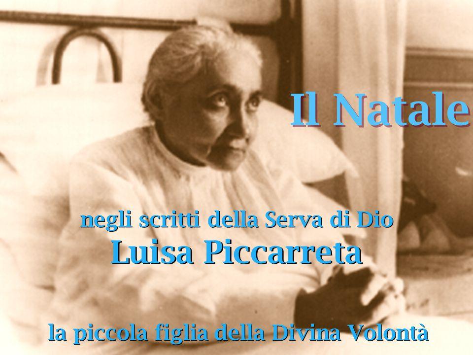 Il Natale negli scritti della Serva di Dio la piccola figlia della Divina Volontà Luisa Piccarreta