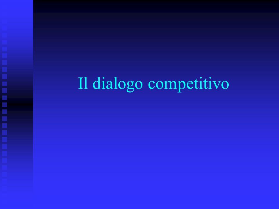 Il dialogo competitivo