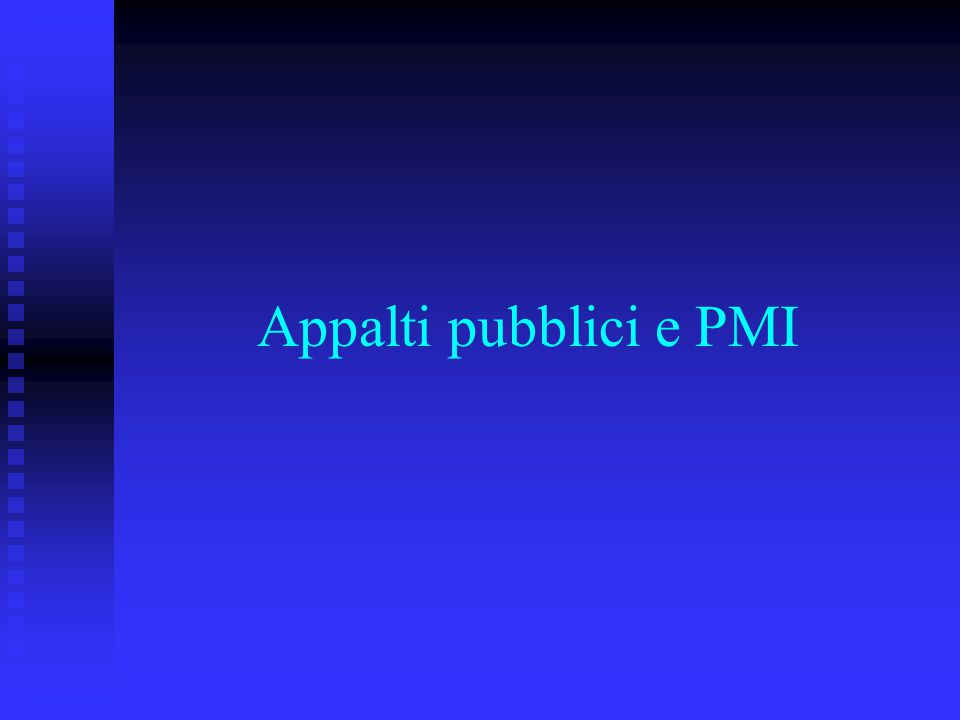 Appalti pubblici e PMI