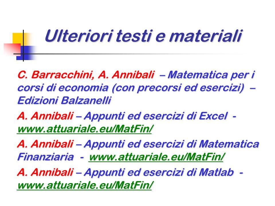 Ulteriori testi e materiali C.Barracchini, A.