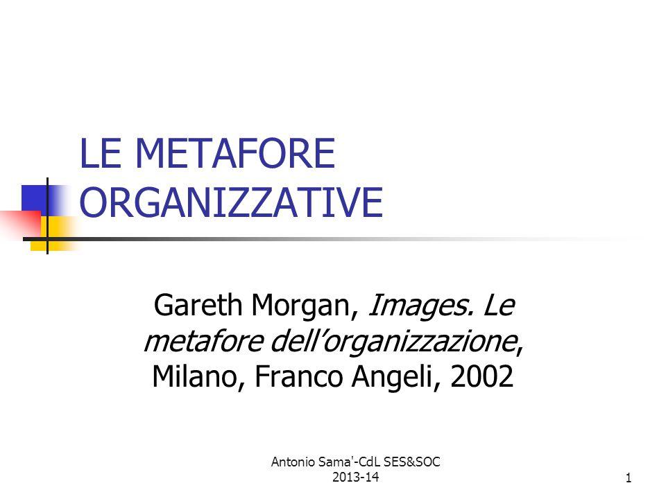 1 LE METAFORE ORGANIZZATIVE Gareth Morgan, Images.
