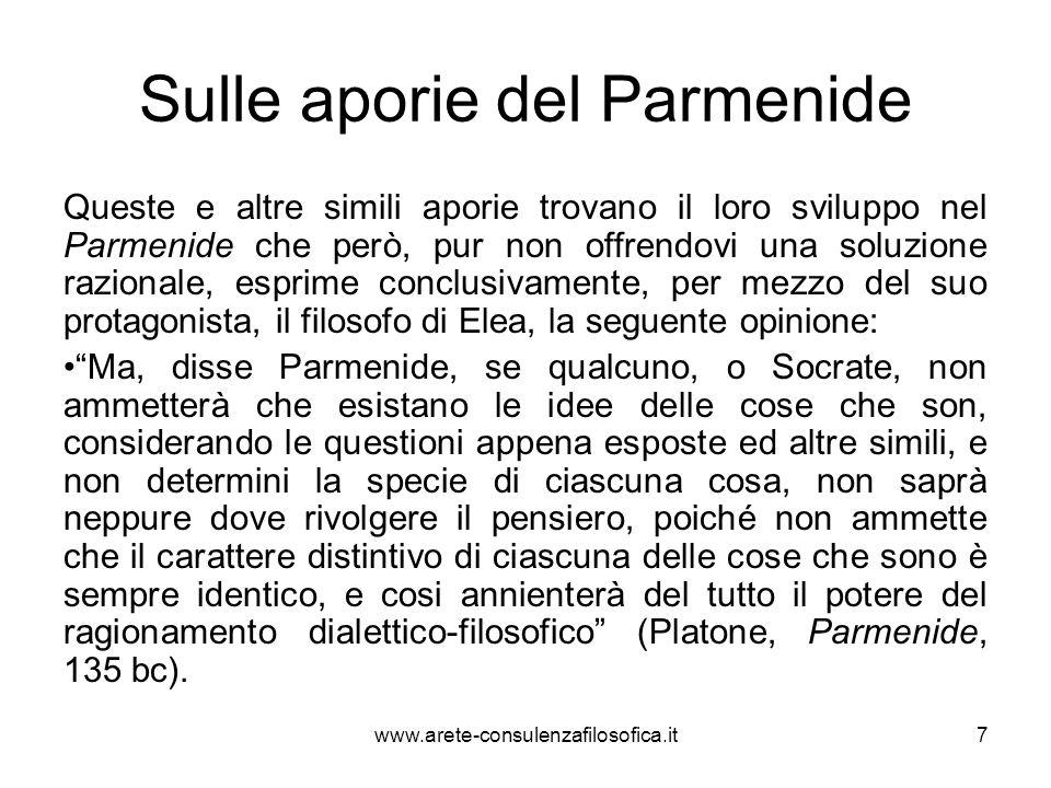 Il sofista Il Sofista è invece il dialogo in cui Platone porta a termine il famoso parricidio nei confronti di Parmenide.