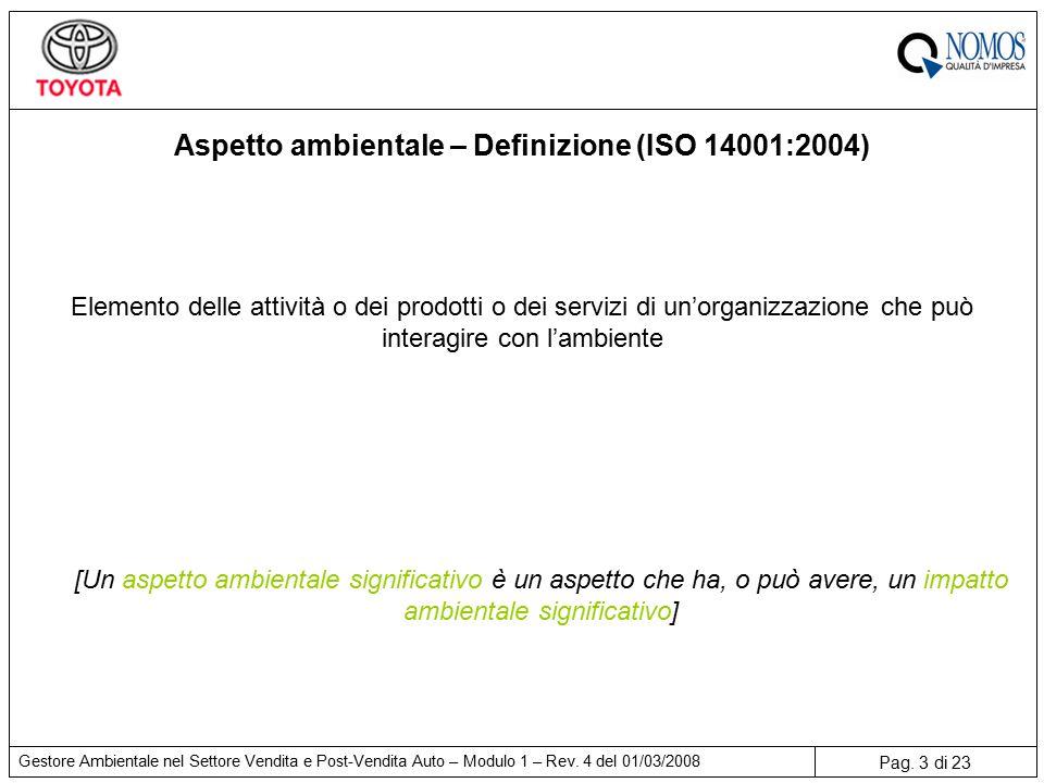 Pag. 3 di 23 Gestore Ambientale nel Settore Vendita e Post-Vendita Auto – Modulo 1 – Rev.