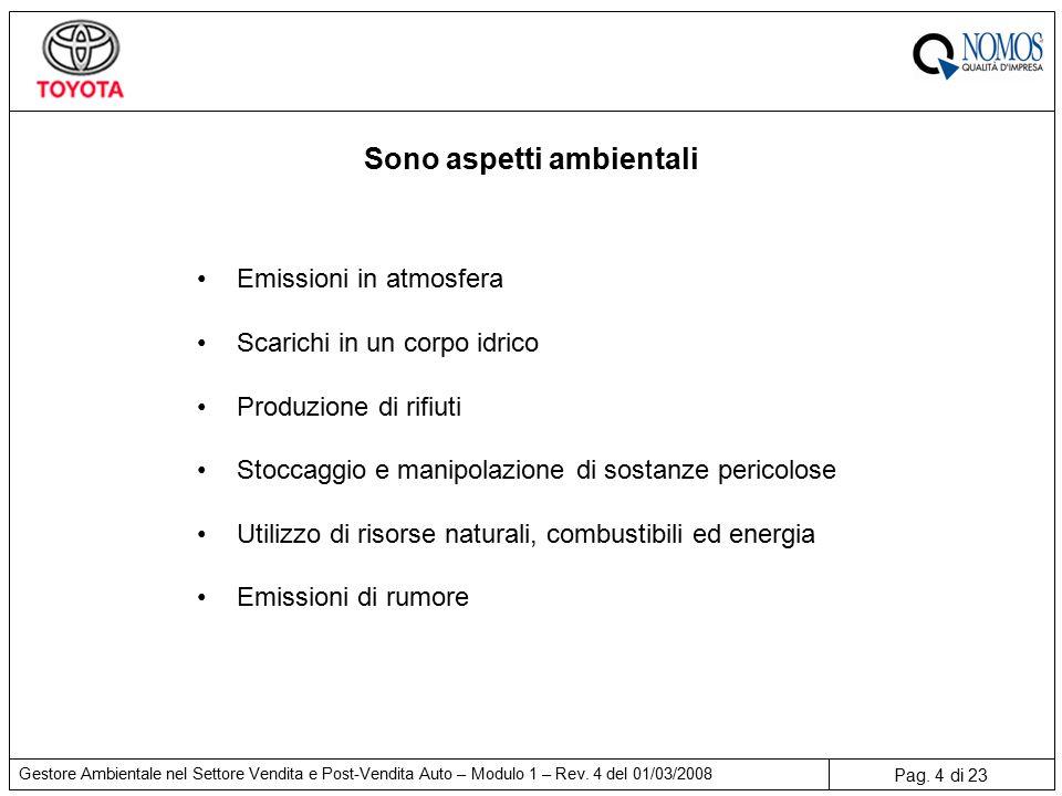 Pag. 4 di 23 Gestore Ambientale nel Settore Vendita e Post-Vendita Auto – Modulo 1 – Rev.