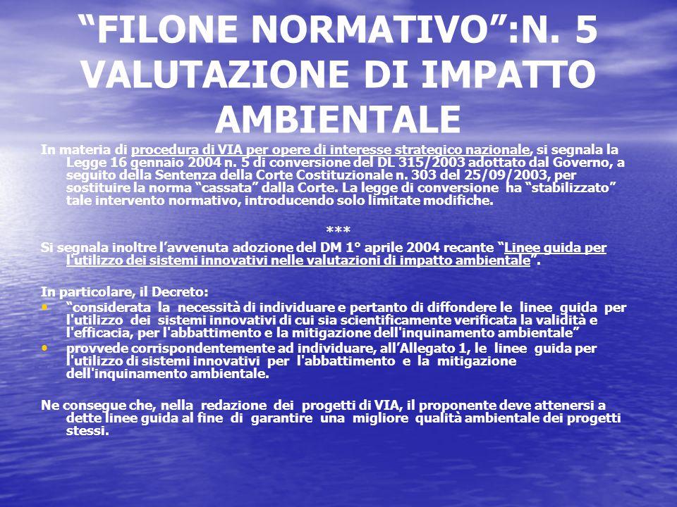 FILONE NORMATIVO :N.