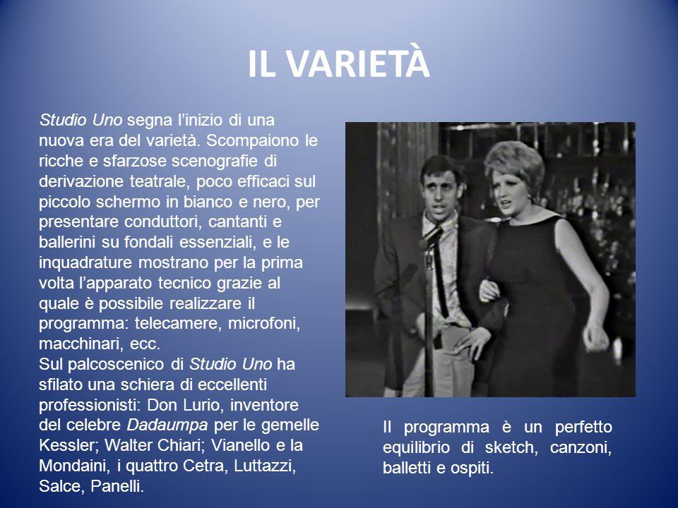IL VARIETÀ Studio Uno (1961-1966) Regia di Antonello Falqui. Sabato (21.05) Programma Nazionale