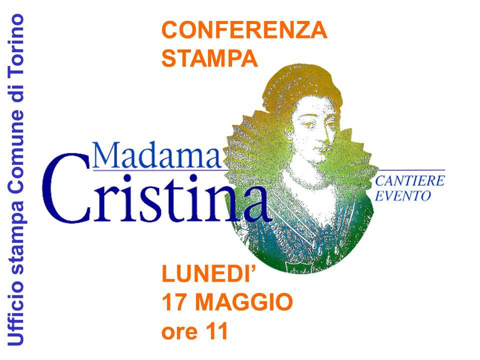 CONFERENZA STAMPA LUNEDI' 17 MAGGIO ore 11 Ufficio stampa Comune di Torino