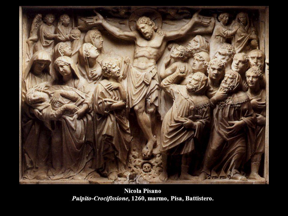 Nicola Pisano Pulpito-Crocifissione, 1260, marmo, Pisa, Battistero.