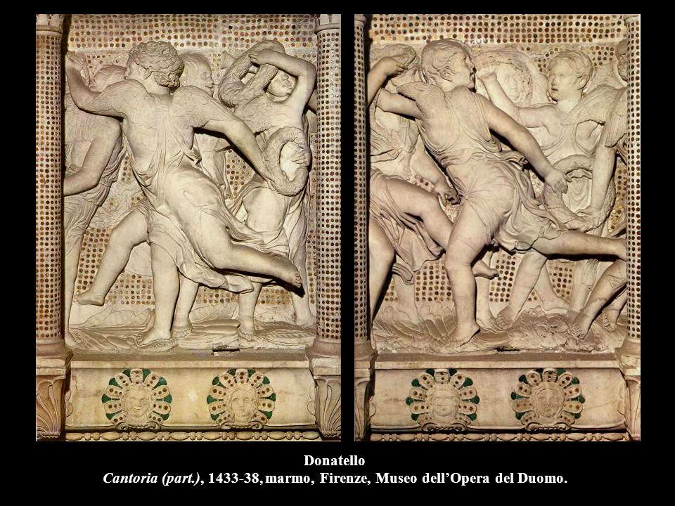 Donatello Cantoria (part.), 1433-38, marmo, Firenze, Museo dell'Opera del Duomo.