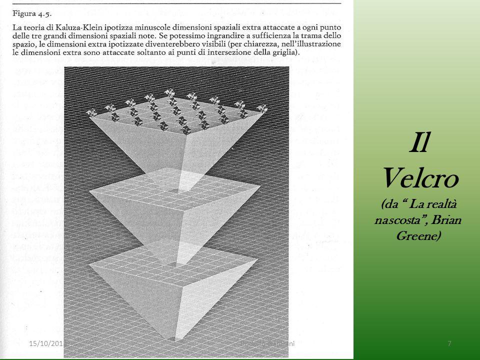 Il Velcro (da La realtà nascosta , Brian Greene) 15/10/2013 Rodolfo Damiani7