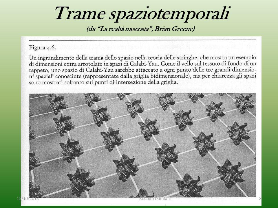 Trame spaziotemporali (da La realtà nascosta , Brian Greene) 15/10/2013 Rodolfo Damiani8