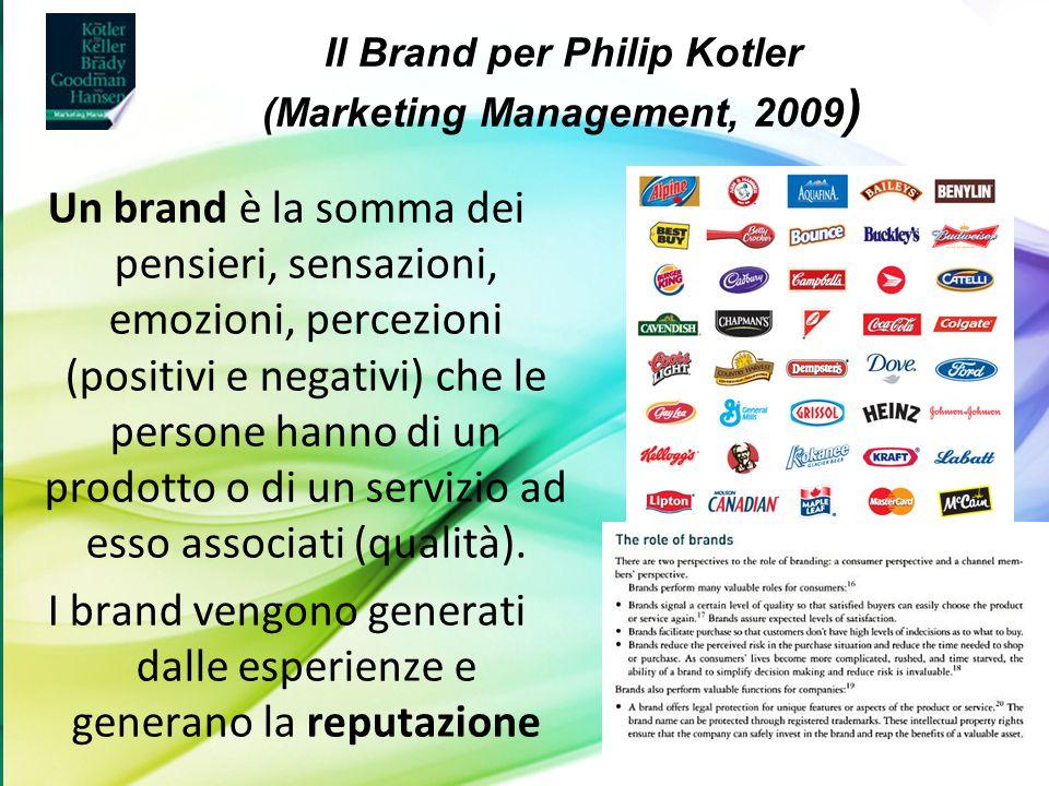 Luigi Anolli (a cura di), Fondamenti di psicologia della comunicazione, Il Mulino 2011 Capitolo I. Prospettive sulla comunicazione umana Un brand è la