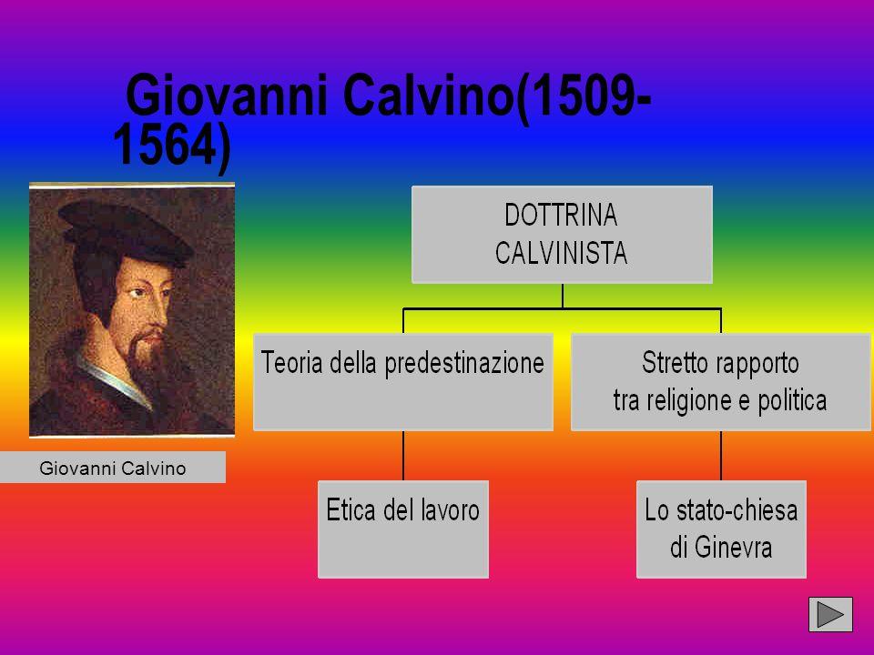 Giovanni Calvino(1509- 1564) n Giovanni Calvino