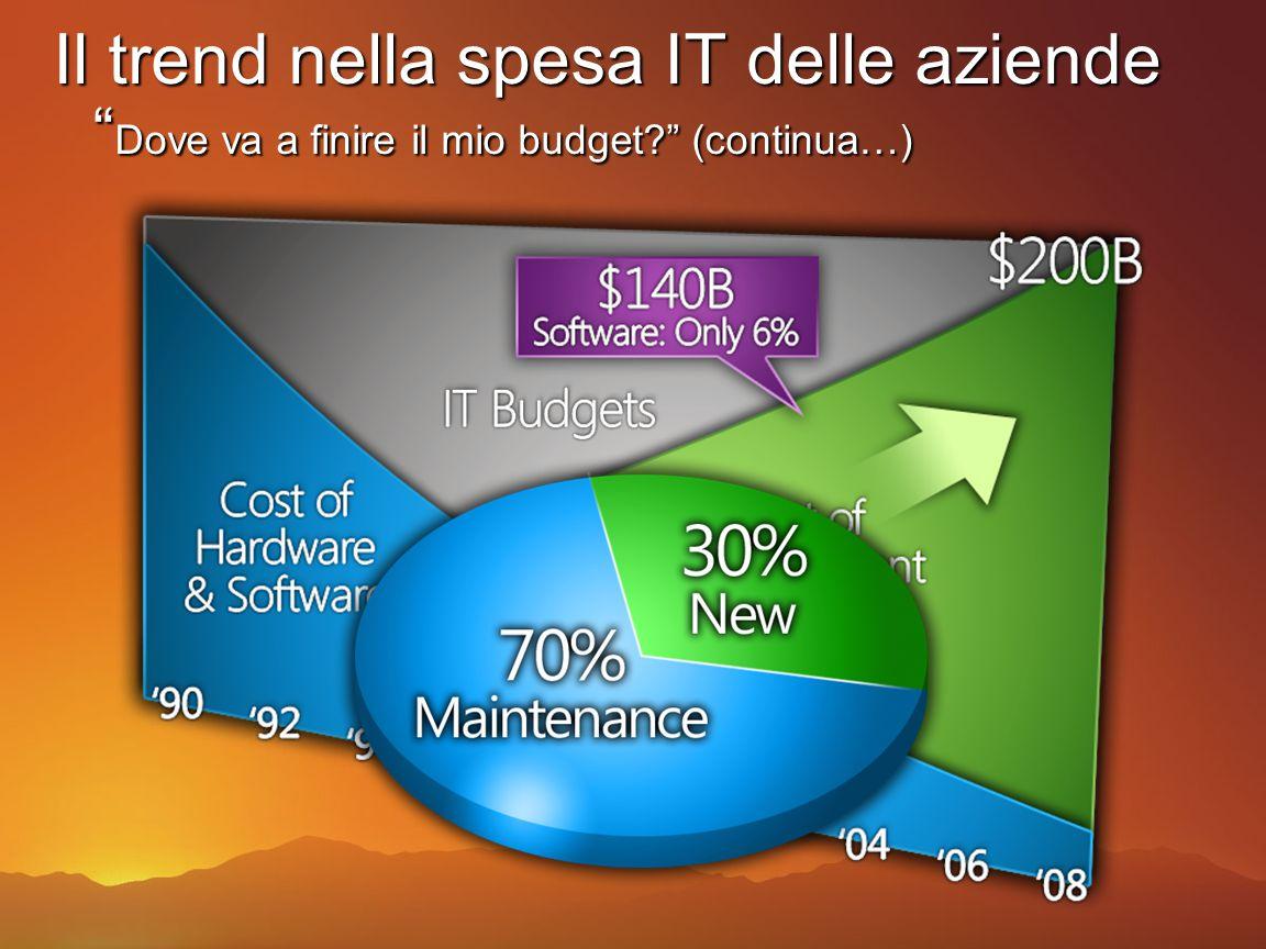 Il trend nella spesa IT delle aziende Dove va a finire il mio budget (continua…)