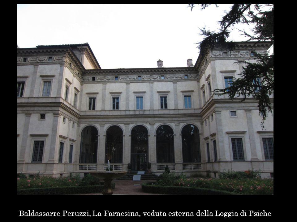Baldassarre Peruzzi, La Farnesina, veduta esterna della Loggia di Psiche