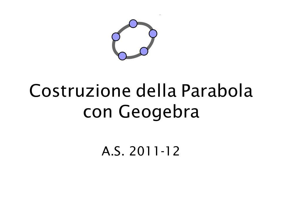 Costruzione della Parabola con Geogebra A.S. 2011-12