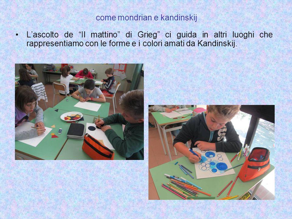 """L'ascolto de """"Il mattino"""" di Grieg"""" ci guida in altri luoghi che rappresentiamo con le forme e i colori amati da Kandinskij."""