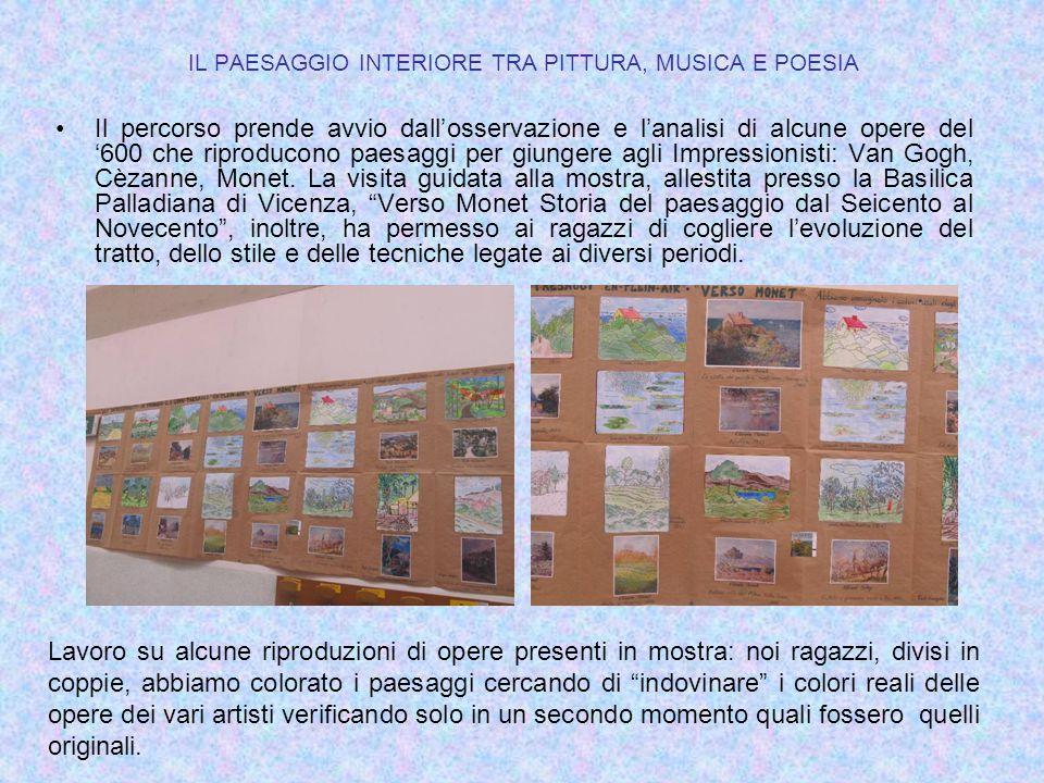 IL PAESAGGIO INTERIORE TRA PITTURA, MUSICA E POESIA Il percorso prende avvio dall'osservazione e l'analisi di alcune opere del '600 che riproducono pa