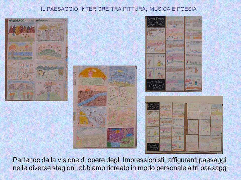 IL PAESAGGIO INTERIORE TRA PITTURA, MUSICA E POESIA Partendo dalla visione di opere degli Impressionisti,raffiguranti paesaggi nelle diverse stagioni,