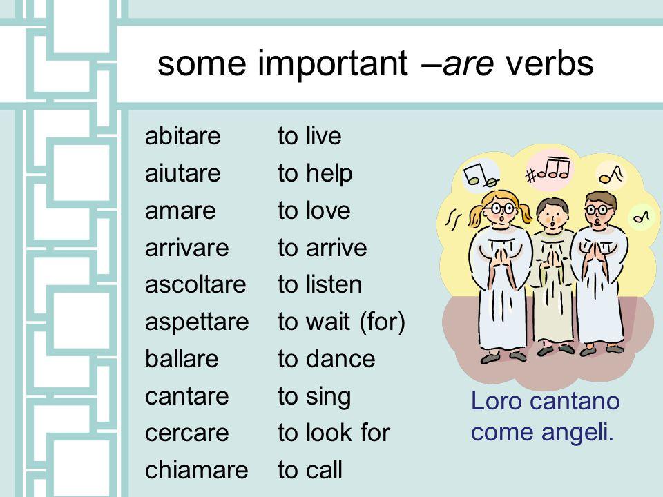PRATICA !!.Subject/verb 1. Io / ricordare 2. Lui / parlare 3.
