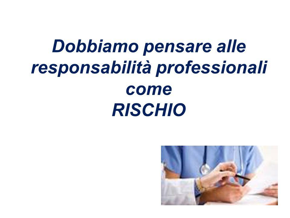 Dobbiamo pensare alle responsabilità professionali come RISCHIO