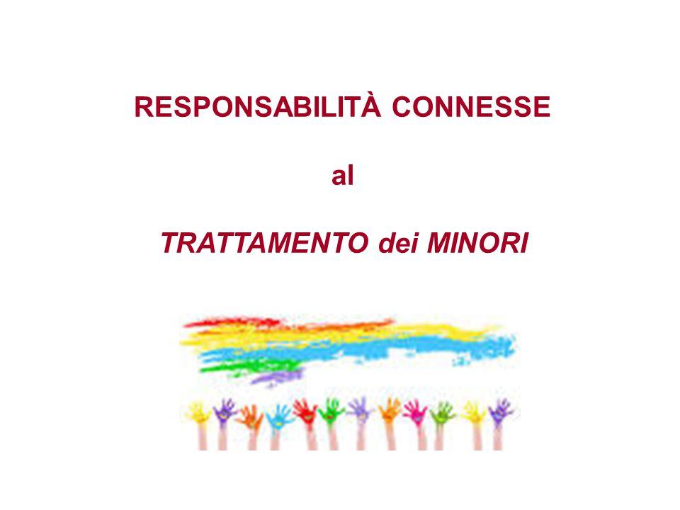 RESPONSABILITÀ CONNESSE al TRATTAMENTO dei MINORI
