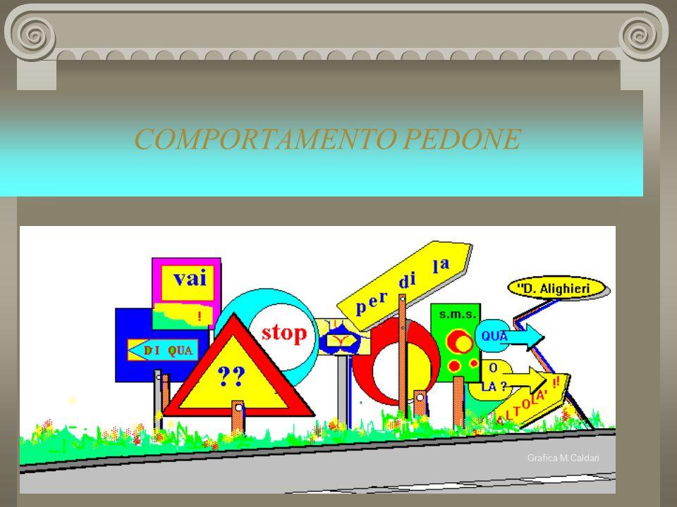 Grafica M.Caldari COMPORTAMENTO PEDONE