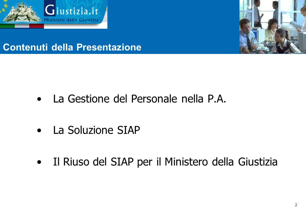 2 Contenuti della Presentazione La Gestione del Personale nella P.A.
