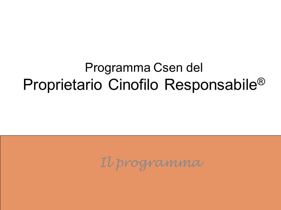 Programma Csen del Proprietario Cinofilo Responsabile ® Il programma