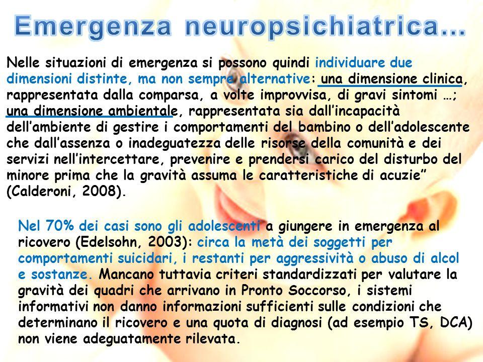 Nelle situazioni di emergenza si possono quindi individuare due dimensioni distinte, ma non sempre alternative: una dimensione clinica, rappresentata