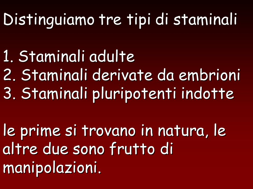 1. Cellule staminali adulte