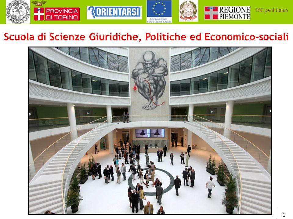 22 FSE per il futuro Attività di Orientamento e Tutorato offerte dalla Scuola di Scienze Giuridiche, Politiche ed Economico- Sociali