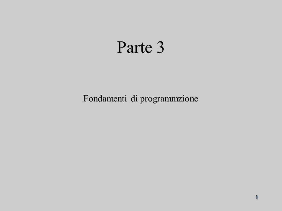 1 Parte 3 Fondamenti di programmzione