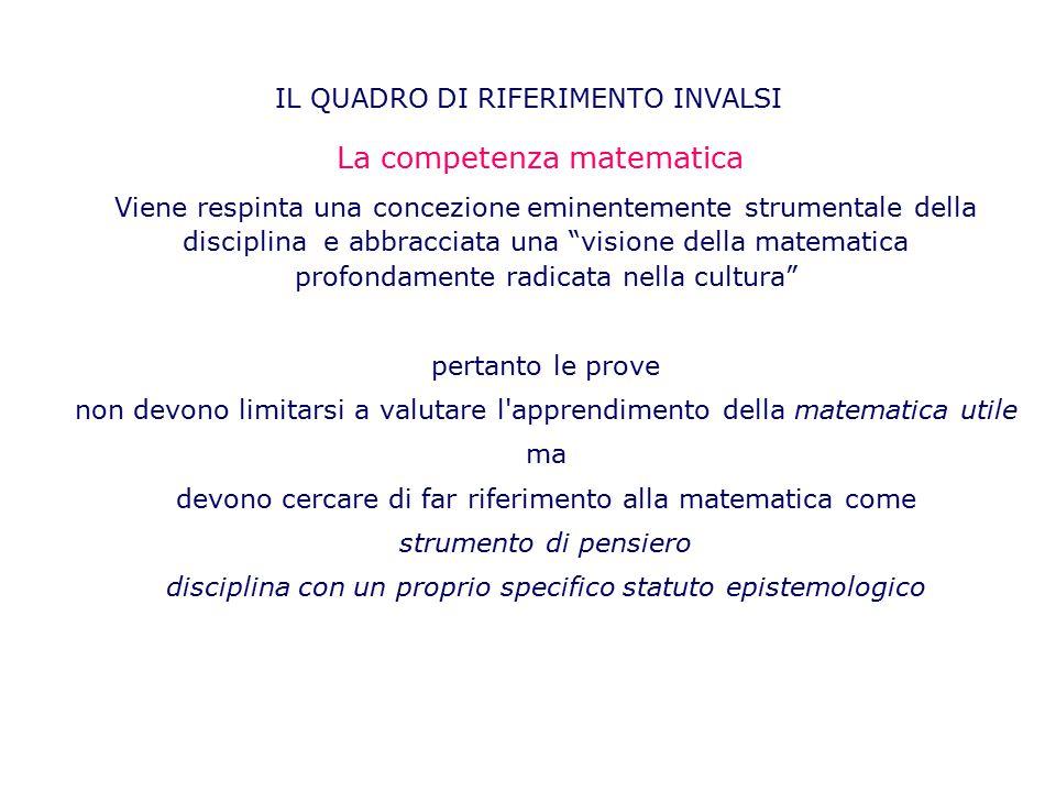 """Viene respinta una concezione eminentemente strumentale della disciplina e abbracciata una """"visione della matematica profondamente radicata nella cult"""
