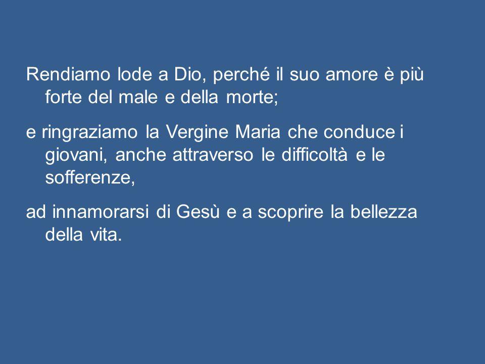 La sua parrocchia, la diocesi di Acqui Terme e il Movimento dei Focolari, a cui apparteneva, oggi sono in festa - ed è una festa per tutti i giovani,
